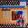 she's a smiling on the inside kinda clown by Rebecca Keppel