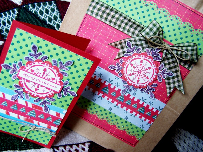 Christmas Gift Bag & Card close-up (submission sz.)