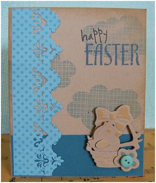 Easter monochrome card