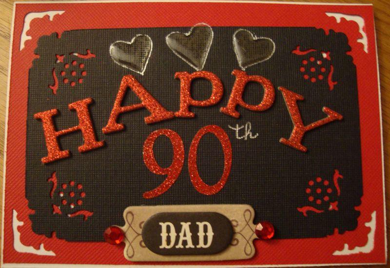 Happy 90th Card
