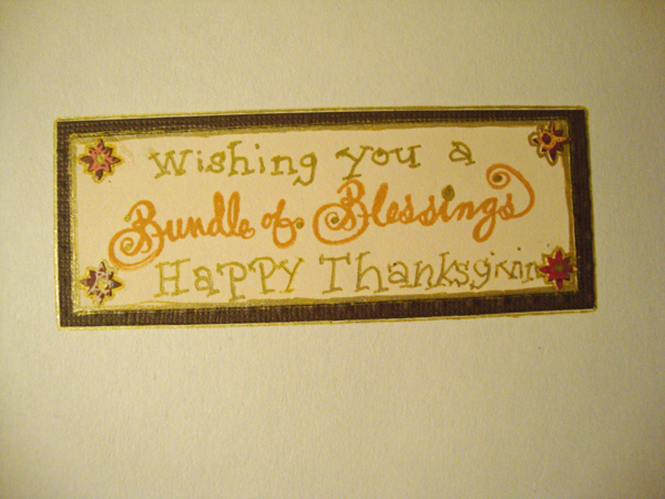 Thanksgiving Card Inside R