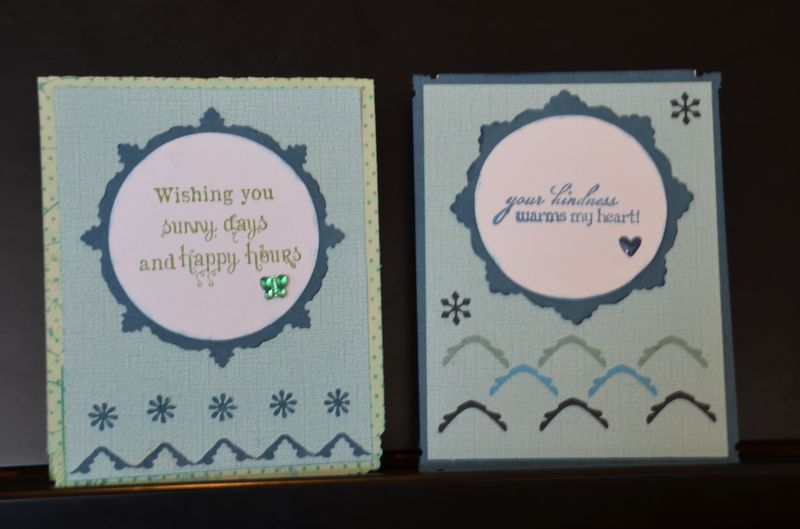 Winter and spring cards