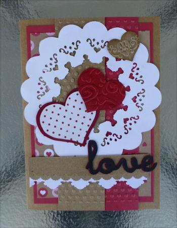 Card Ji Valentine open doily