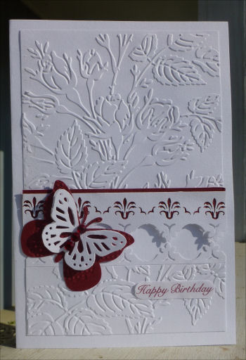 Card JI red butterfly