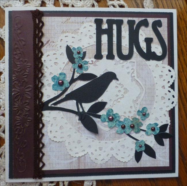 Card hugs amber