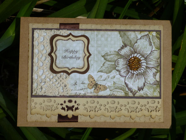 Card JI craft brown and butterfly