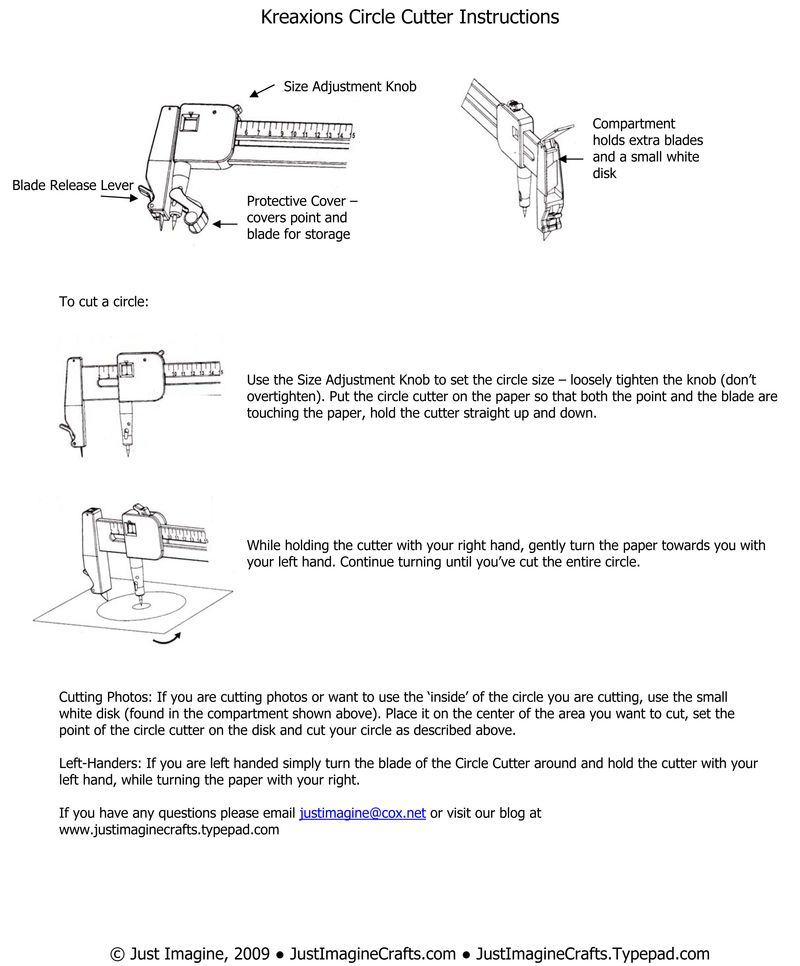 Kreaxions Circle Cutter Instructions copy